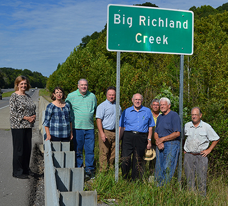 big richland creek sign 2
