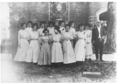 Mr. Hughes' Sunday School Class at First United Methodist Church of Barbourville in 1910