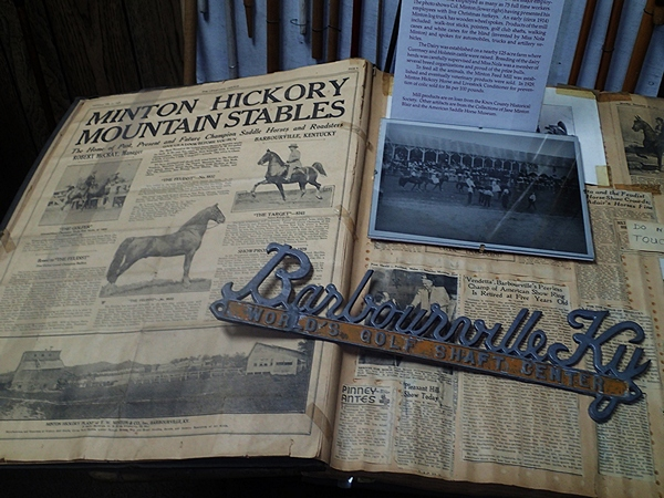 Celebrities Room - Minton Hickory Stables artifacts