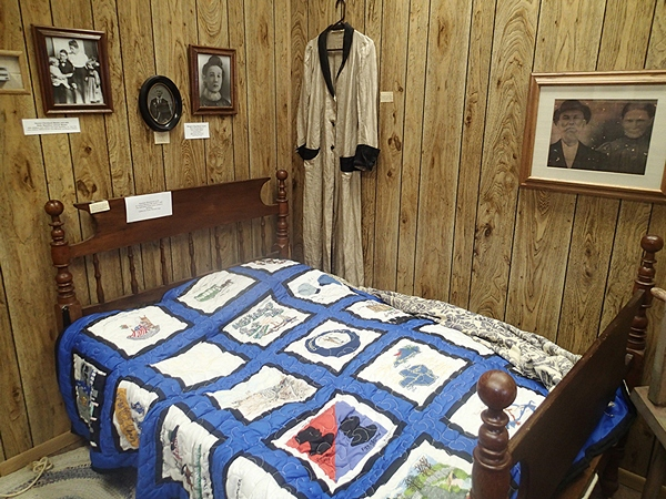 Generations room - Rope Bed and Bicentennial Quilt artifacts