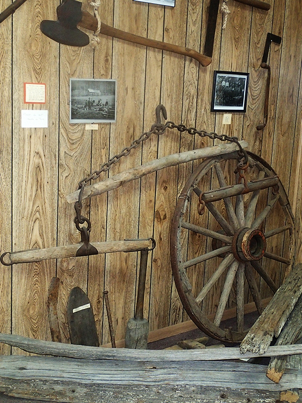 Native American and Pioneer Room - farm implements artifacts